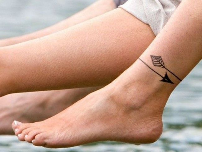 arrow bracelet ankle tattoo
