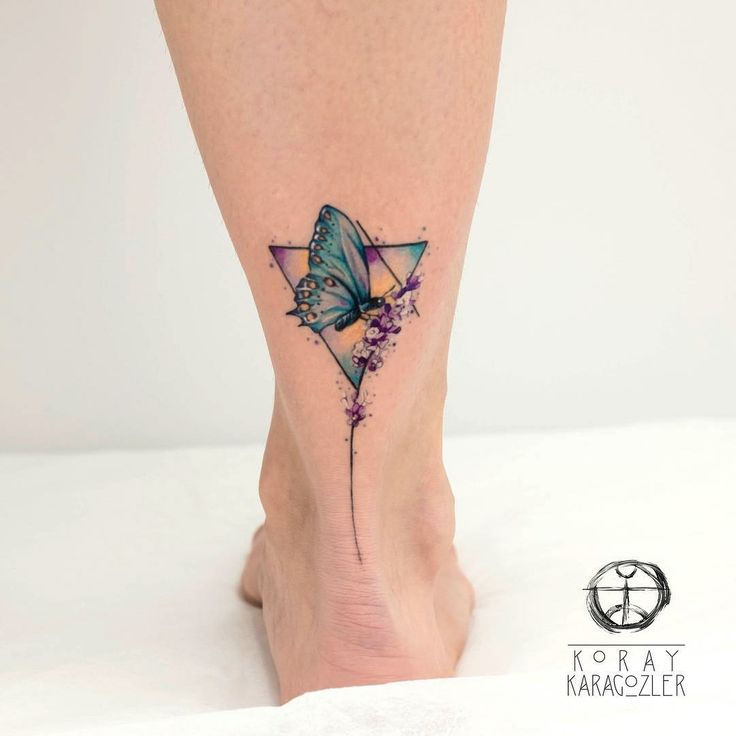 Best butterfly tattoo on ankle for girls