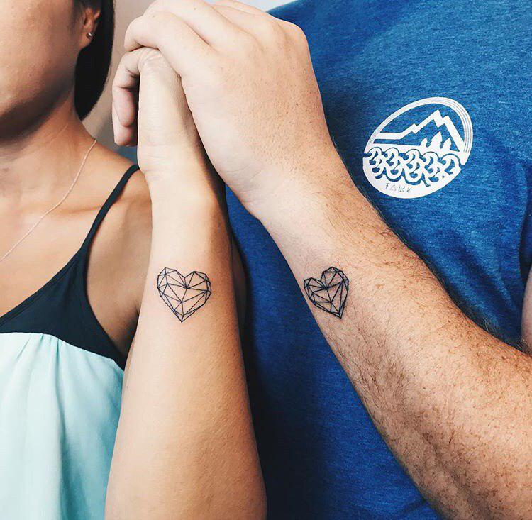 couples tattoo on wrist