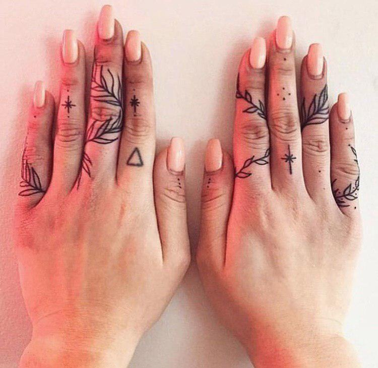 finger hand tattoos
