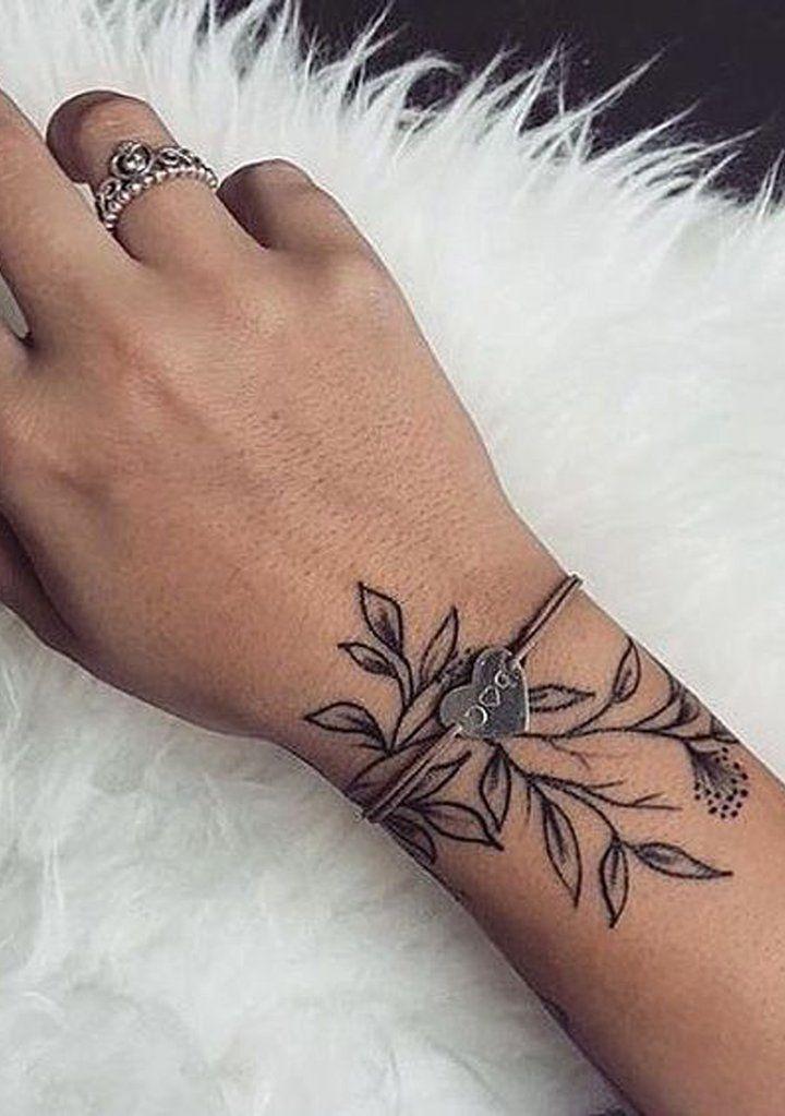 floreal wrist tattoo