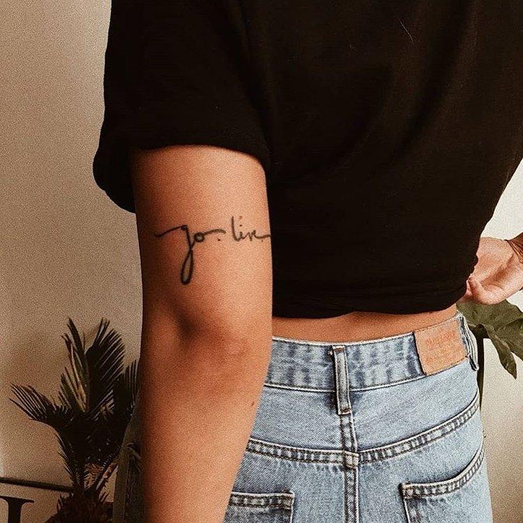 upperarm tattoo idea jolie