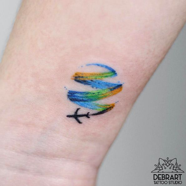 Little Plane Tattoo Tiny Tattoo Inc
