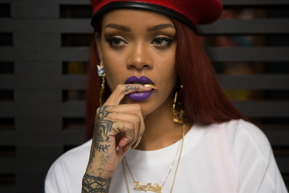 Rihanna finger tattoo