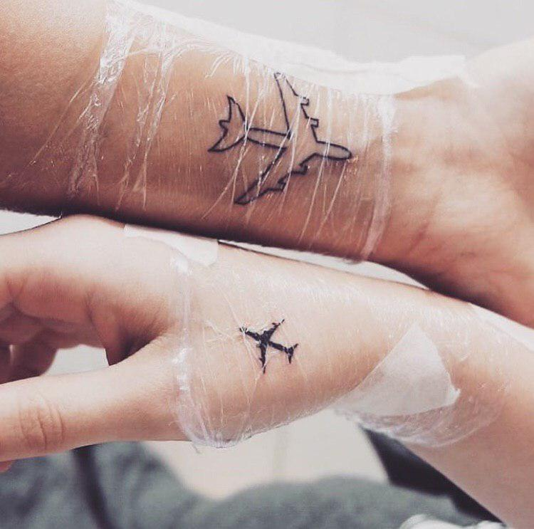 Two Airplane Tattoo Designs Tiny Tattoo Inc