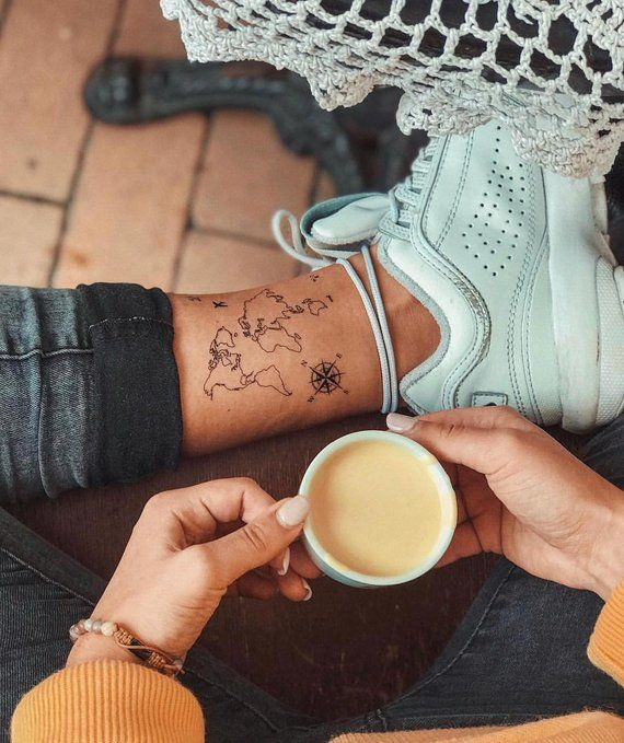 Cute small travel tattoo ideas for girls