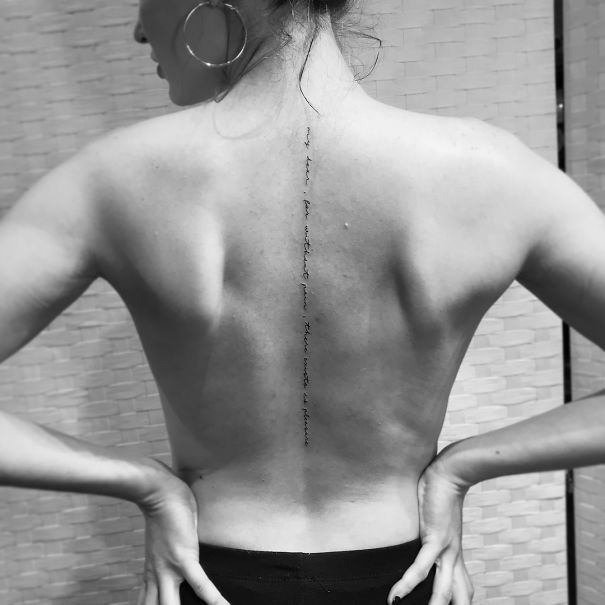 spinal tattoos for girls