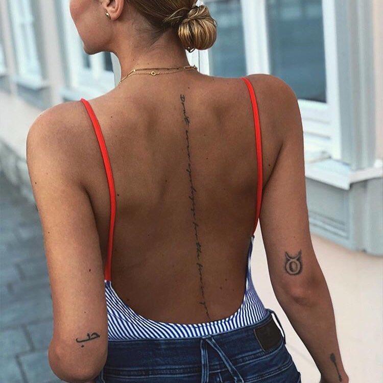 Girl With Back Tattoos Tiny Tattoo Inc