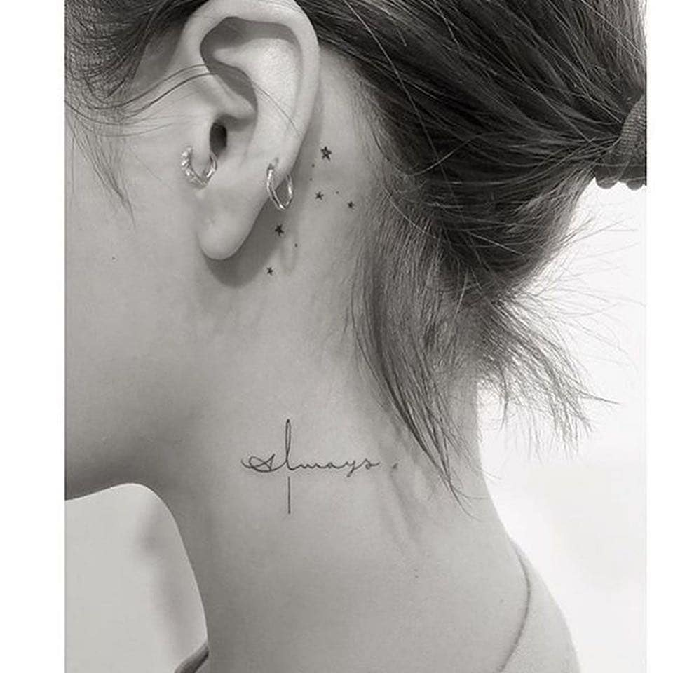 THE Small Tattoo On Neck Collection You Need NOW!