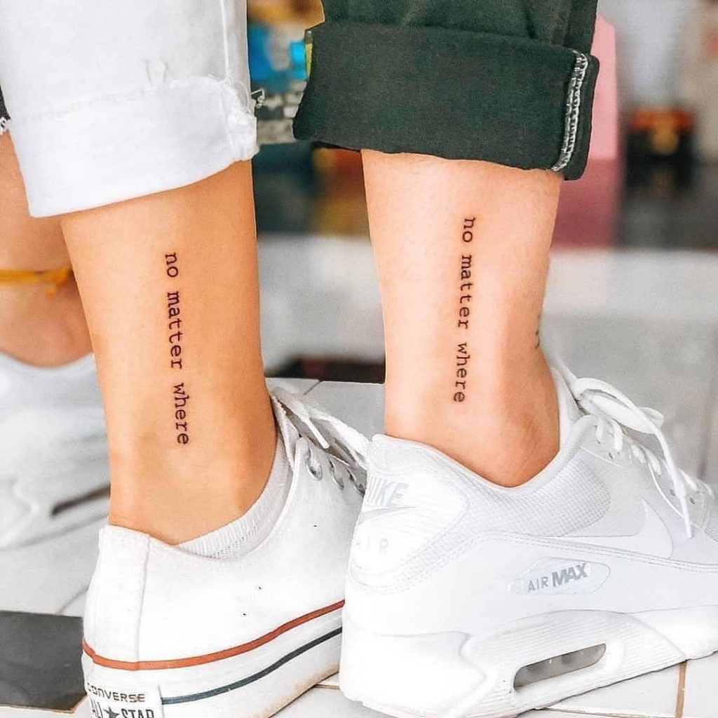 ankle tattoo quote