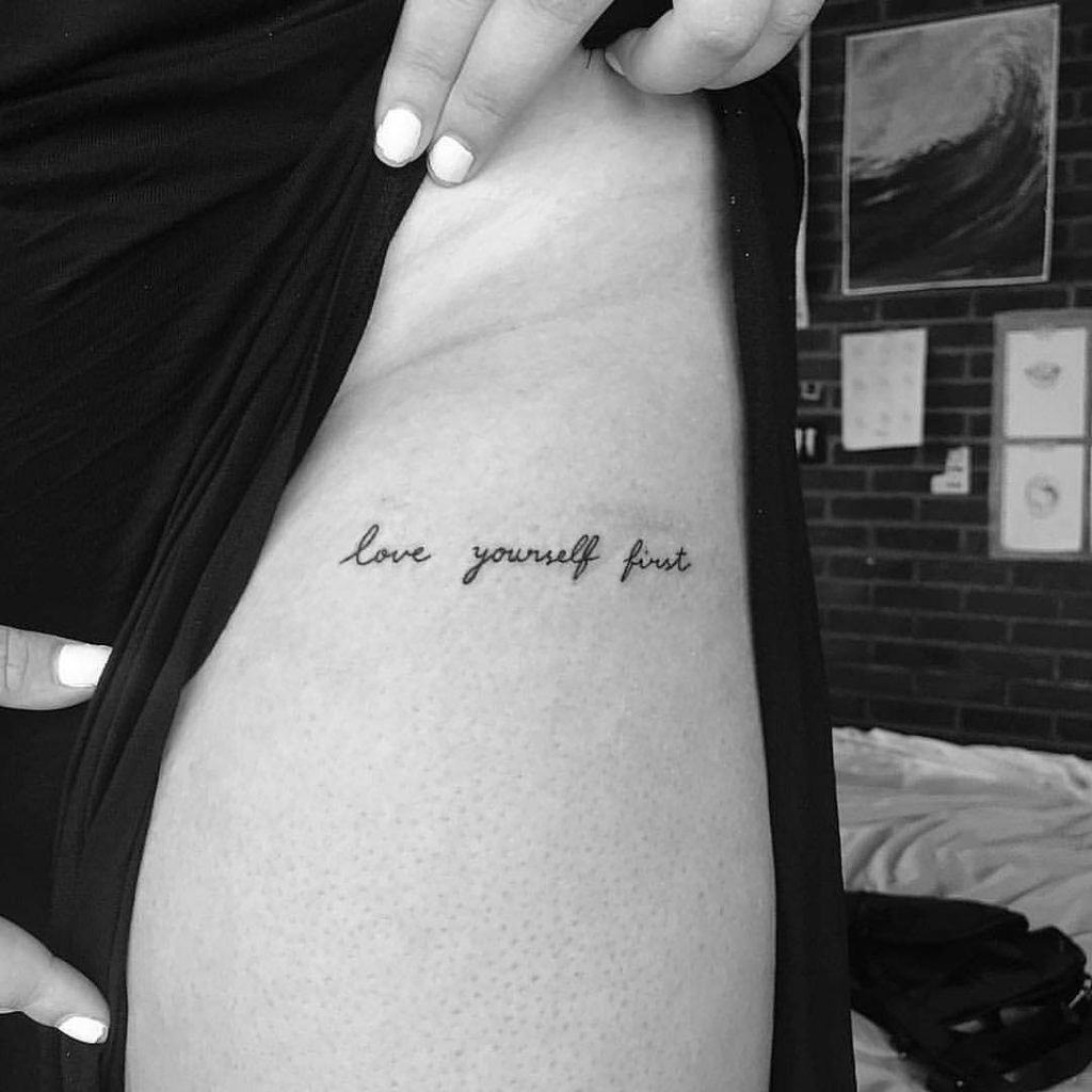 love yourself tattoo