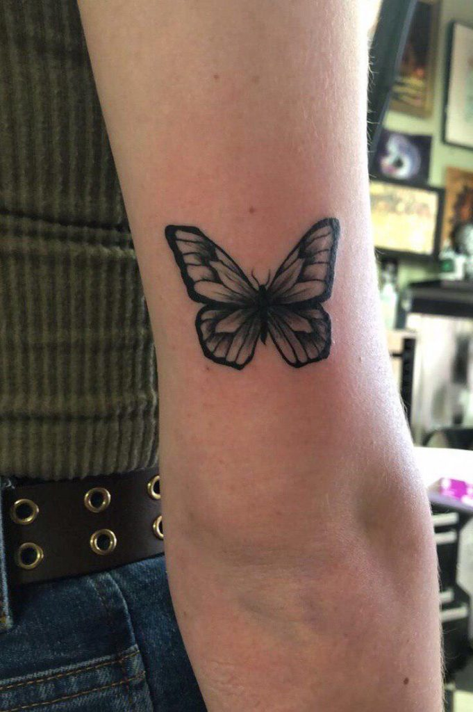 Black Butterfly on Arm