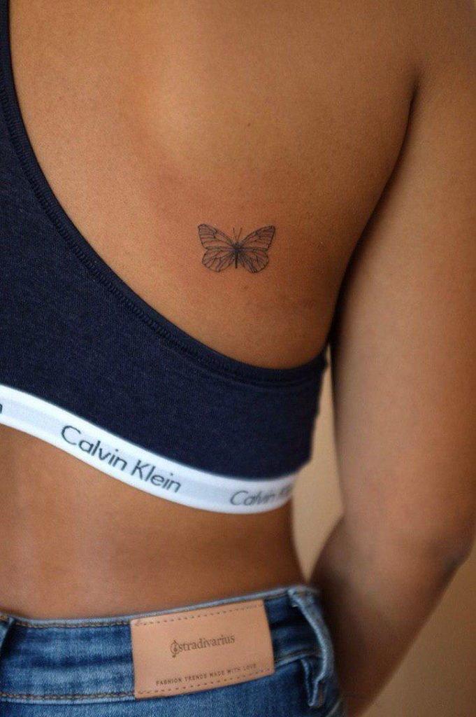 Mini Fineline butterfly tattoo