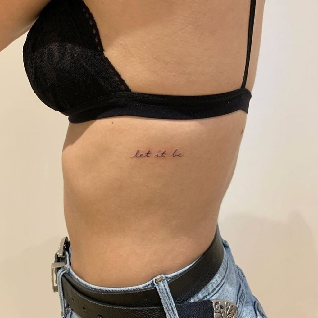 let it be tattoo quotes on ribs