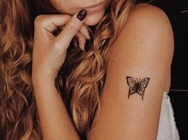 little dotted butterfly tattoo