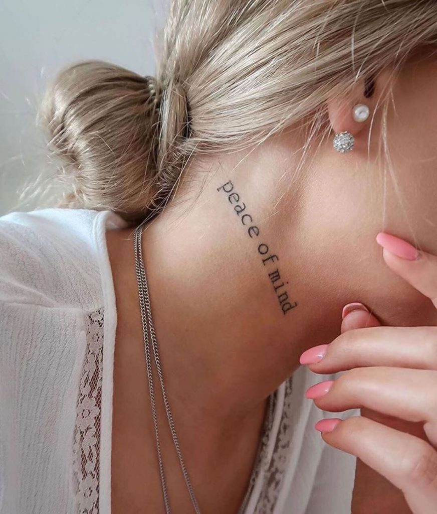 peace of mind neck tattoo quotes