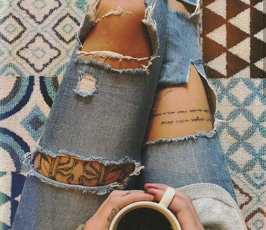 front thigh tattoos for girls