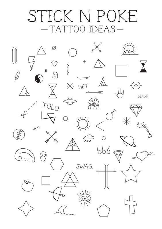 stick n poke tattoo ideas sketch doodles