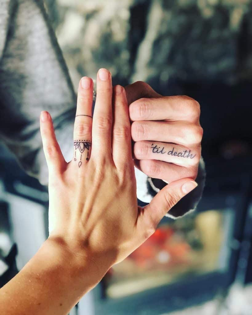 husband and wife tattoos for marriage