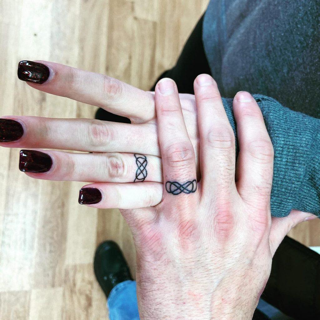 infinity wedding ring tattoos