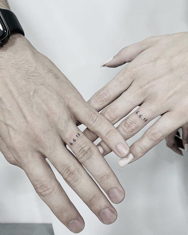 wedding ring tattoos ideas for wedding date